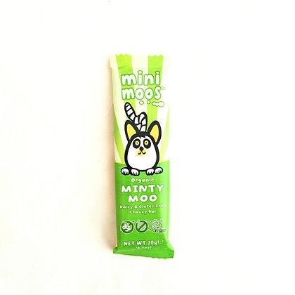 Mini Moos Organic Minty Moo Dairy and Gluten Free Choccy Bar