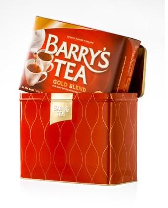 Barry's Gold Blend Tea Caddy