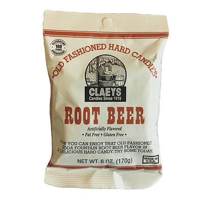 Claeys Root Beer Hard Candy (170 gr)