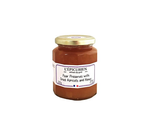 L'Epicurien Pear Preserve with Dried Apricots and Honey