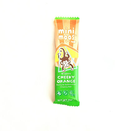 Mini Moos Organic Cheeky Orange Dairy and Gluten Free Choccy Bar