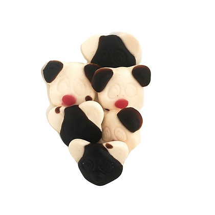 Dutch Licorice and Cream Gummy Pandas (100 gr Bag)