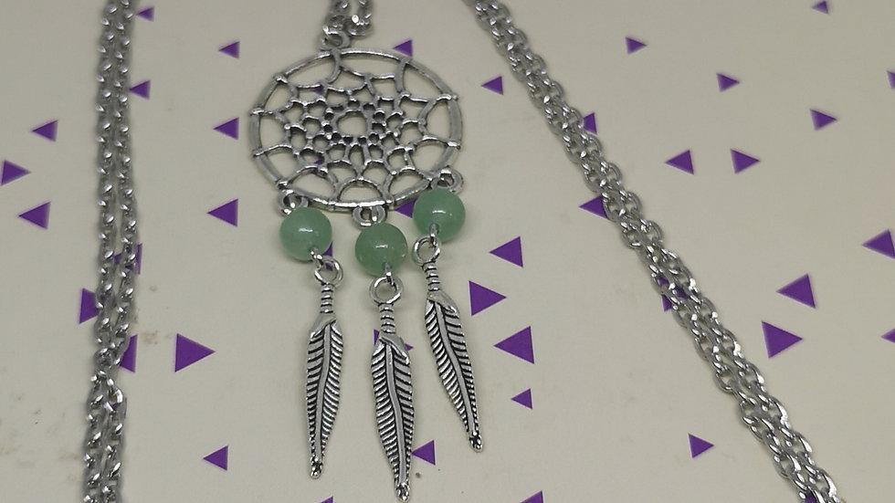 Fluorite Gemstone Dreamcatcher Necklace