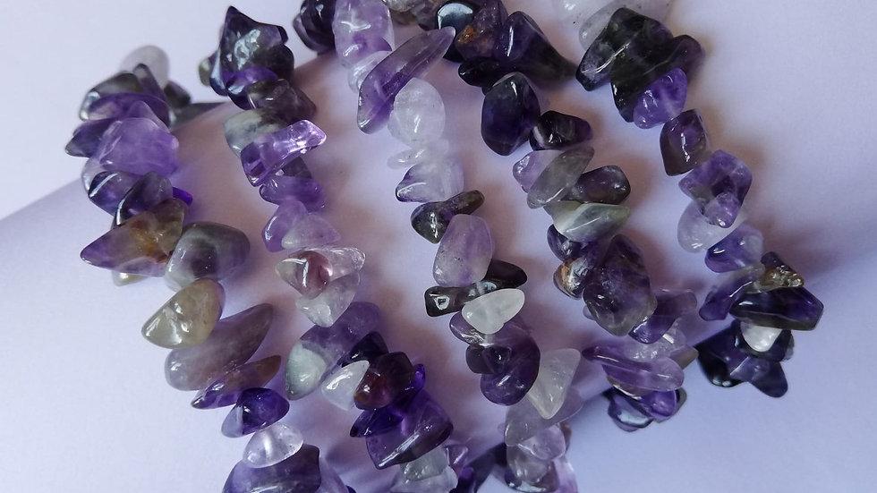 Amethyst Stone Chip Bracelet