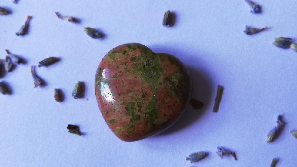 Unakite Stone Heart