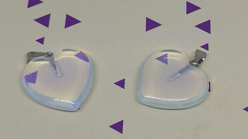 Opalite Heart Pendant