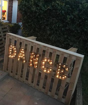 Dance Light Up Letters
