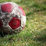 昔ながらのサッカーボール