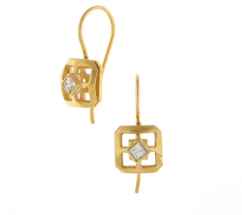 SQUARE ORIENT EARRINGS