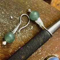 EARRINGS Jade Pave set