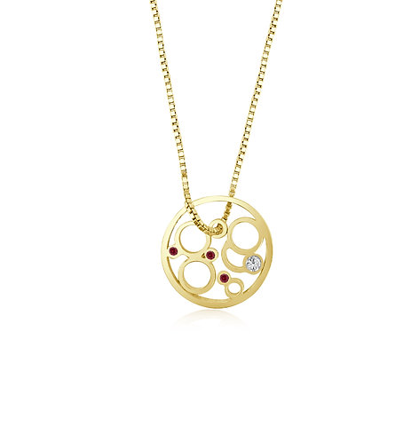 Ruby moon necklace