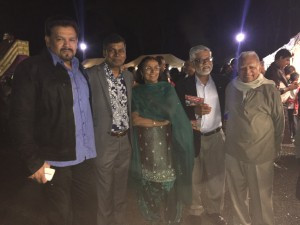 Professor Biman Prasad with Dr Padma Narsely Lal, Professor Brij Lal and former NFP Leader and Deputy PM in the NFP/FLP Coalition Government Harish Sharma in Liverpool.