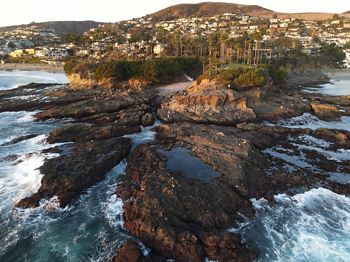 Laguna Beach From The Air Fine Art Print