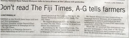khaiyum - dont read fiji times