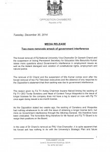 OPPOSITION FNU MOE MEDIA RELEASE DECEMBER 2014 - 1