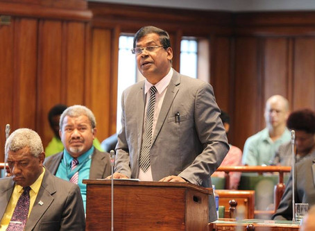 Maiden Speech of the Leader of the NFP Hon. Prof. Biman Prasad – Parliament of Fiji