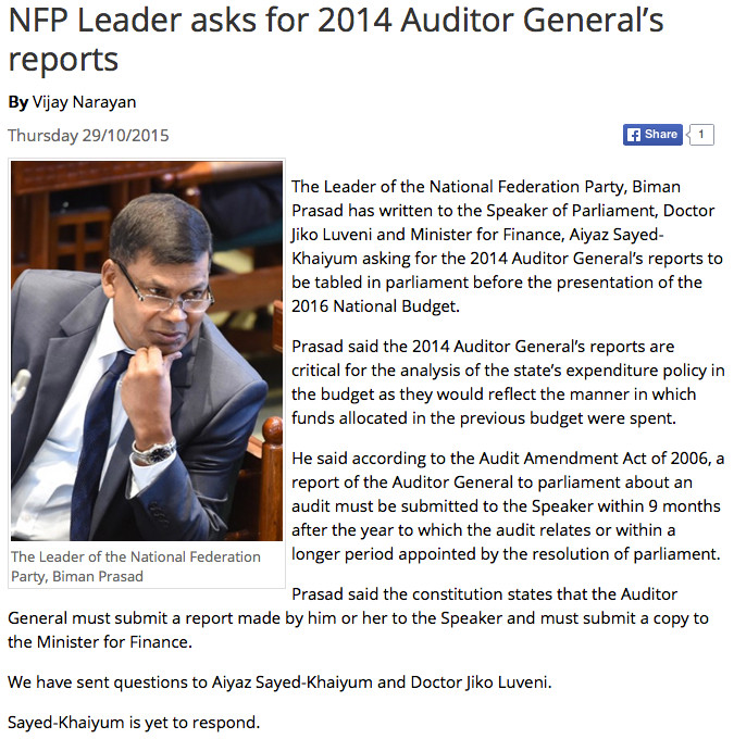 Aud Gen Report 20145
