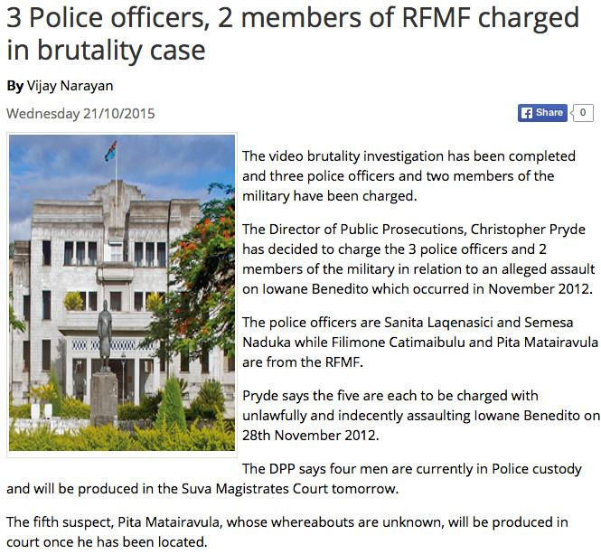 police rfmf brutality