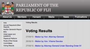 parl voting result screen capture