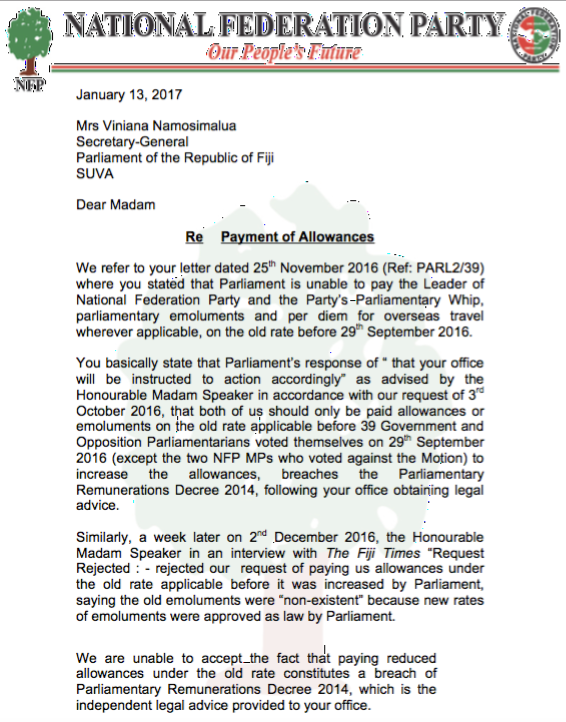 Parl letter 1