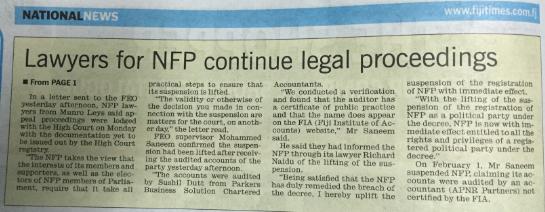 NFP legals