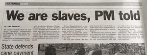 FT - we are slaves PM told - sugar