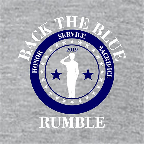 Back the Blue Rumble Apparel