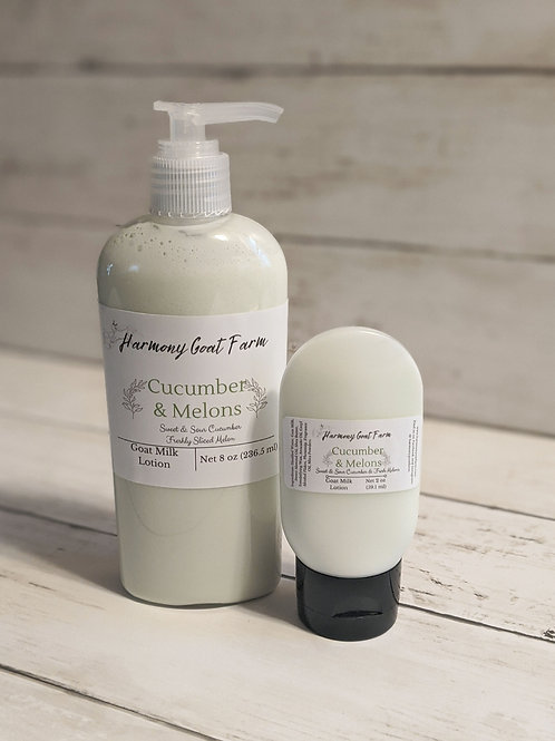 Cucumber & Melons Goat Milk Lotion