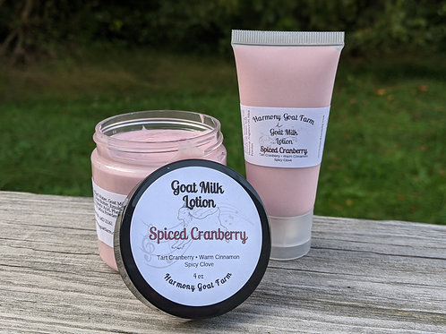 Spiced Cranberry Goat Milk Lotion