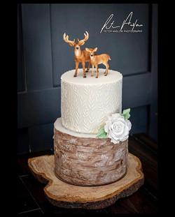 Rustic deer and wood detail