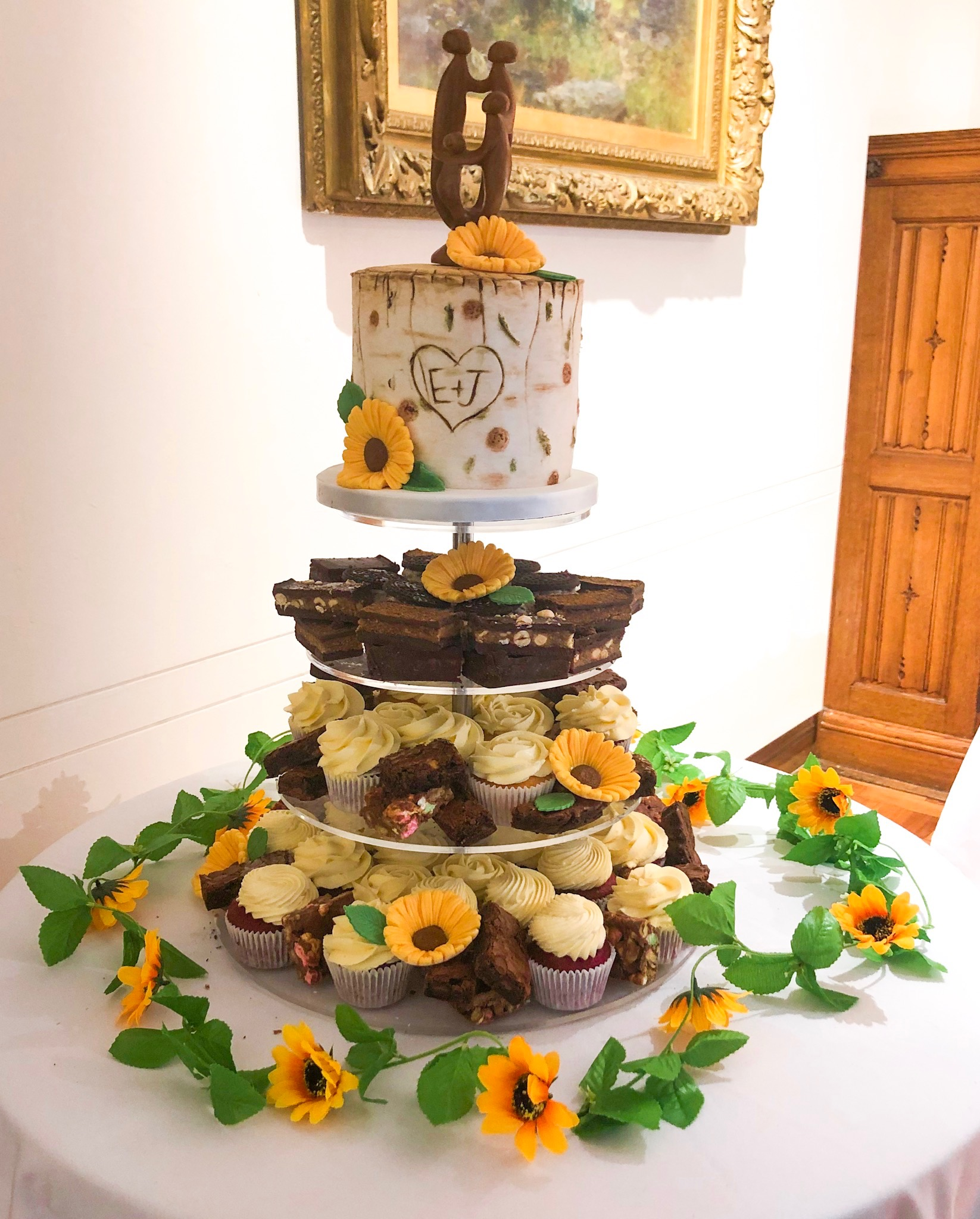 Sunflower Cupcake Tower