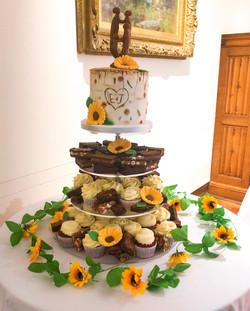 Sunflower Cupcake Tower