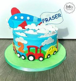 Children's vehicle cake