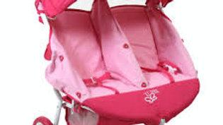 Valcobaby mini twin marathon dolls pram-Pink
