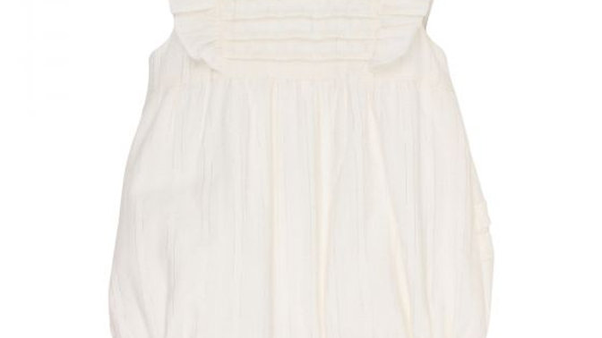 Girls Lurex Frill Romper