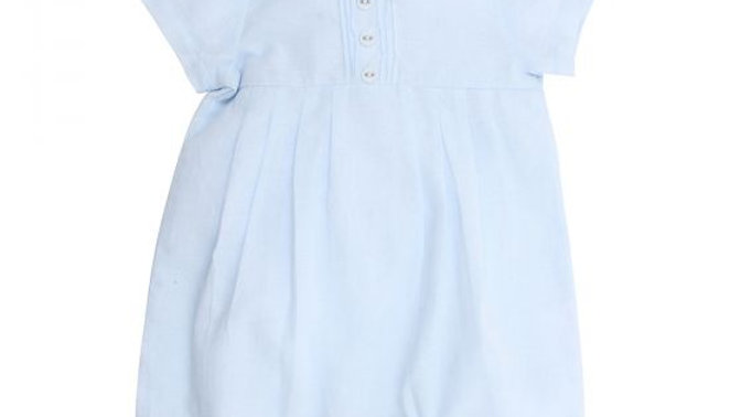 Boys Blue Pleat Romper