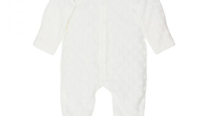 Cloud Spot Layette Romper