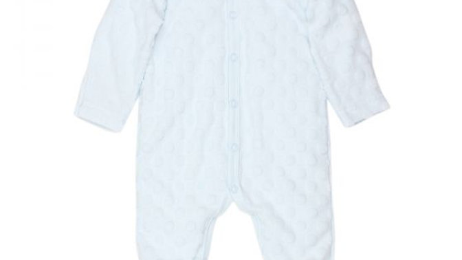 Boys Blue Spot Layette Romper