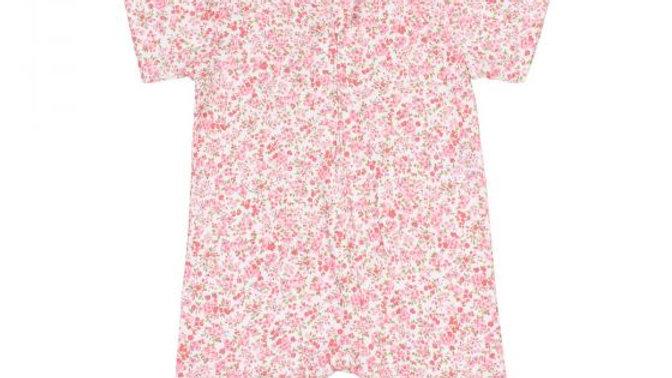Girls Floral Short Sleeve Romper