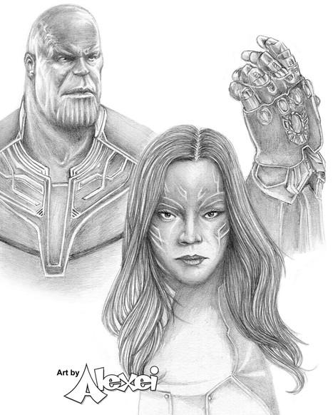 Thanos & Gamora