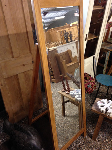 Oak Freestanding Mirror