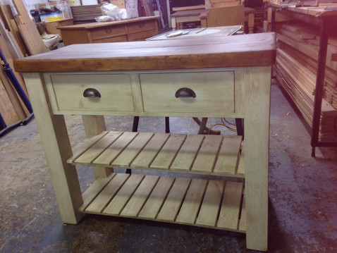 Plank Butchers Block - White Wash