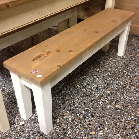Tapered Farmhouse Bench