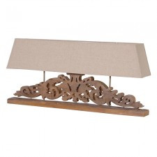 Wide Carved Lamp
