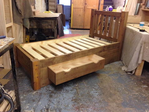 Single Plank Bed with Storage