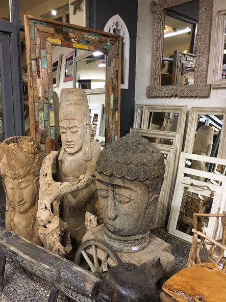 Large Carved Heads