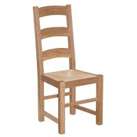 Oak Chair with Rush Seat