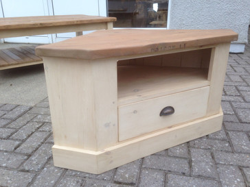 Corner TV Unit Drawer Reclaimed Top