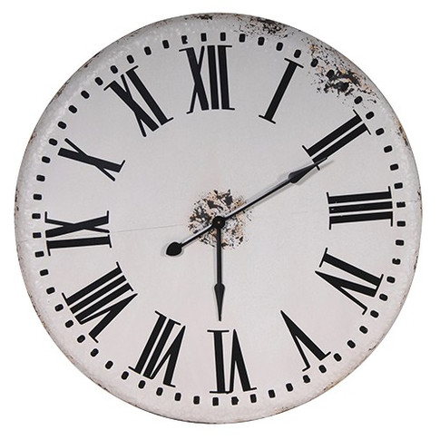 LG White Wall Clock
