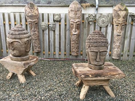 Wooden Head Carvings